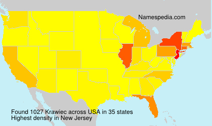 Surname Krawiec in USA