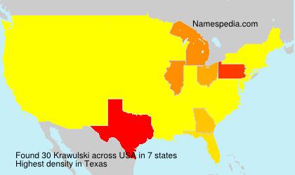 Familiennamen Krawulski - USA