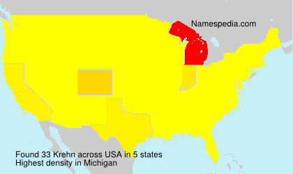 Surname Krehn in USA