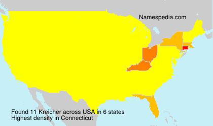 Surname Kreicher in USA
