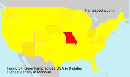 Familiennamen Kreienkamp - USA
