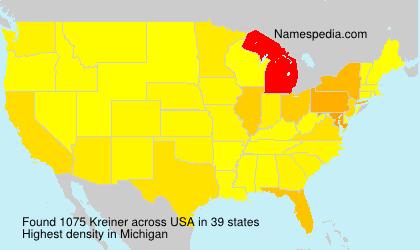 Surname Kreiner in USA