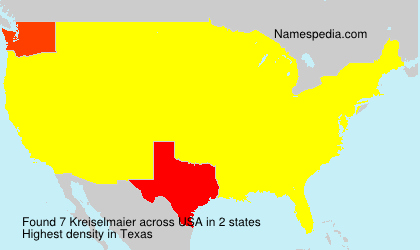 Surname Kreiselmaier in USA