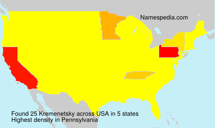 Surname Kremenetsky in USA