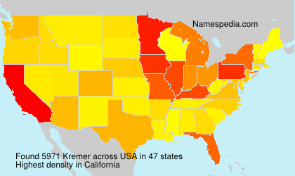 Surname Kremer in USA