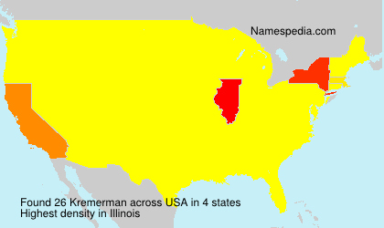 Surname Kremerman in USA