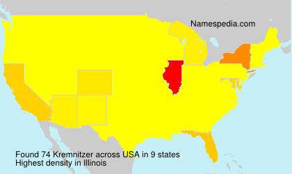 Surname Kremnitzer in USA