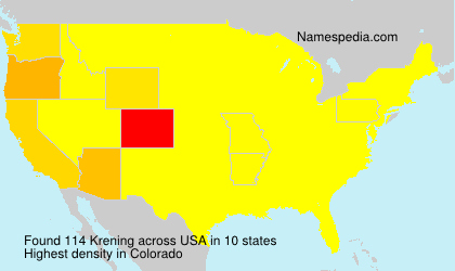 Surname Krening in USA