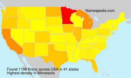Surname Krenz in USA