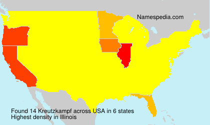 Surname Kreutzkampf in USA