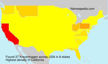Surname Kreyenhagen in USA