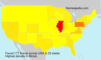 Surname Krezel in USA