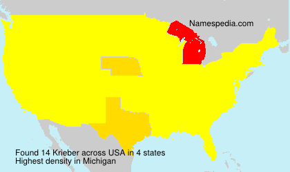 Surname Krieber in USA