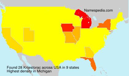 Surname Krijestorac in USA