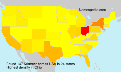 Surname Krimmer in USA