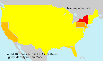 Surname Krines in USA