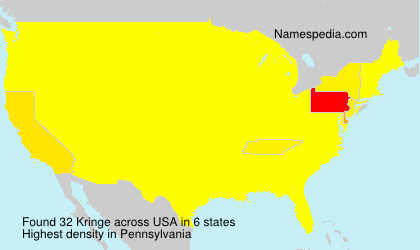 Surname Kringe in USA
