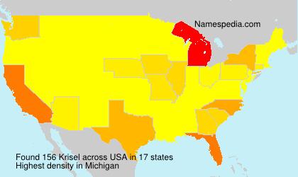 Familiennamen Krisel - USA