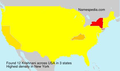 Surname Krishnani in USA