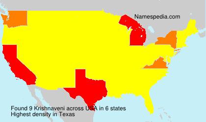 Familiennamen Krishnaveni - USA