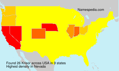 Surname Krisor in USA
