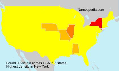 Surname Kristein in USA