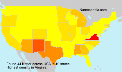 Surname Kritter in USA