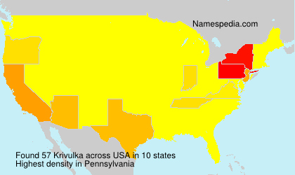 Surname Krivulka in USA