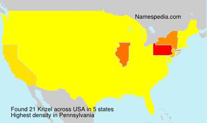 Familiennamen Krizel - USA