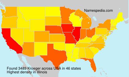 Familiennamen Kroeger - USA