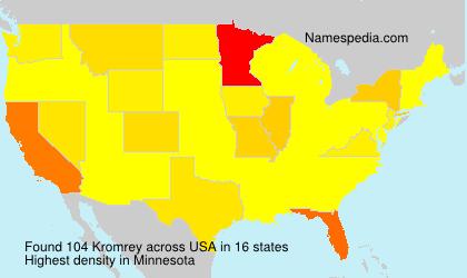 Surname Kromrey in USA