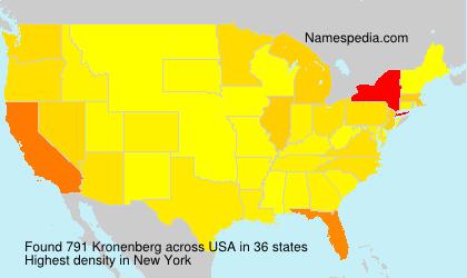 Surname Kronenberg in USA