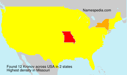 Surname Kronov in USA