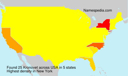 Familiennamen Kronovet - USA