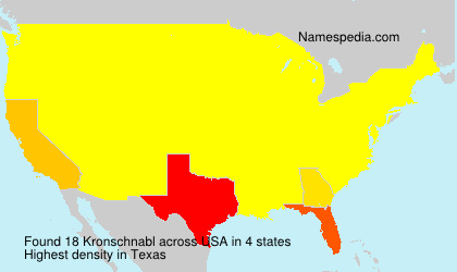 Surname Kronschnabl in USA