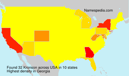 Surname Kronson in USA