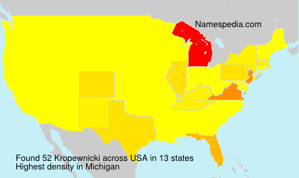Surname Kropewnicki in USA