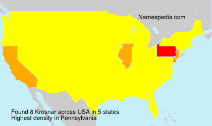 Surname Krosnar in USA