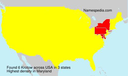 Familiennamen Krotow - USA
