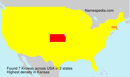 Surname Krowas in USA