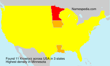 Surname Krowiorz in USA