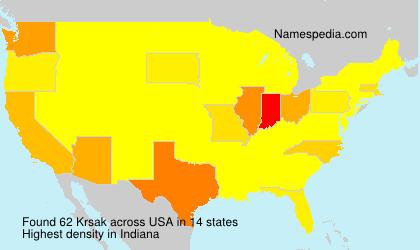Surname Krsak in USA