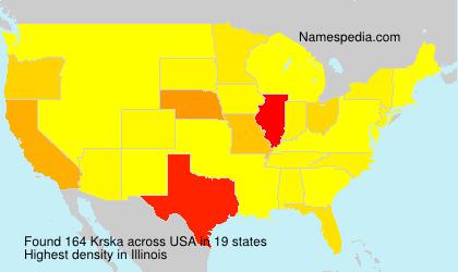 Surname Krska in USA