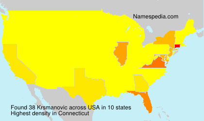 Surname Krsmanovic in USA