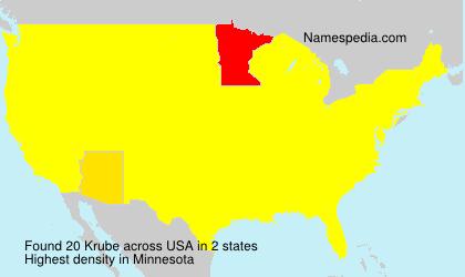 Surname Krube in USA