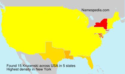 Surname Krucenski in USA