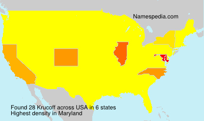 Surname Krucoff in USA