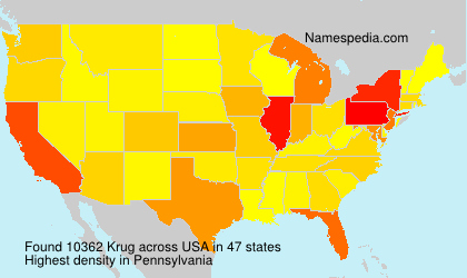 Surname Krug in USA