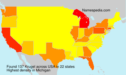 Surname Krugel in USA