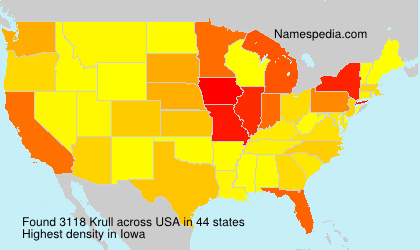 Surname Krull in USA